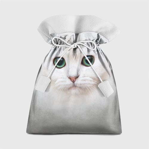 Подарочный 3D мешок Белый котик