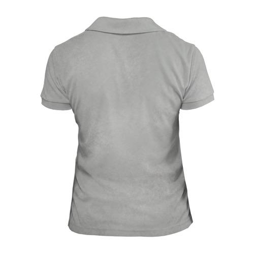 Женская рубашка поло 3D Белый котик Фото 01