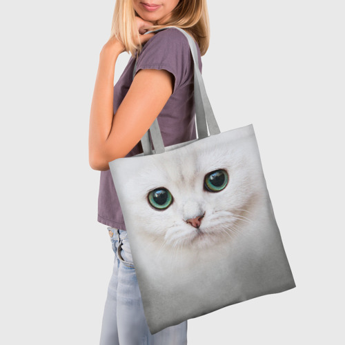 Сумка 3D повседневная  Фото 03, Белый котик