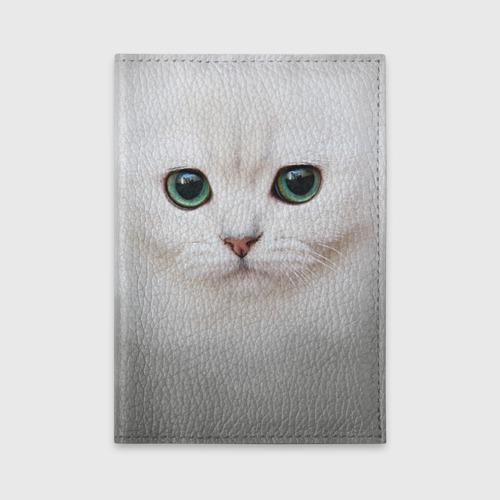 Обложка для автодокументов Белый котик Фото 01