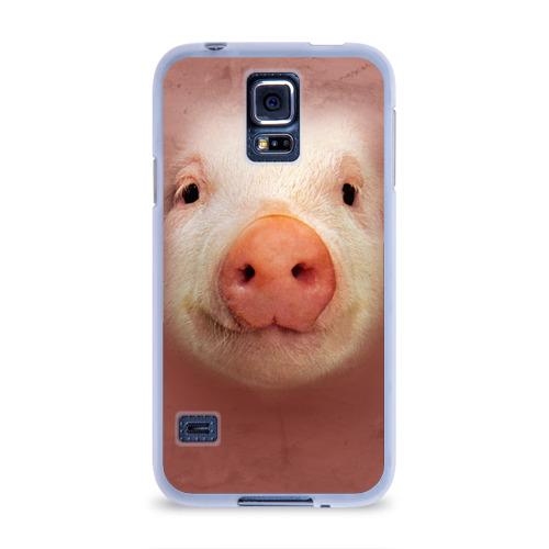 Чехол для Samsung Galaxy S5 силиконовый  Фото 01, Хрюшка