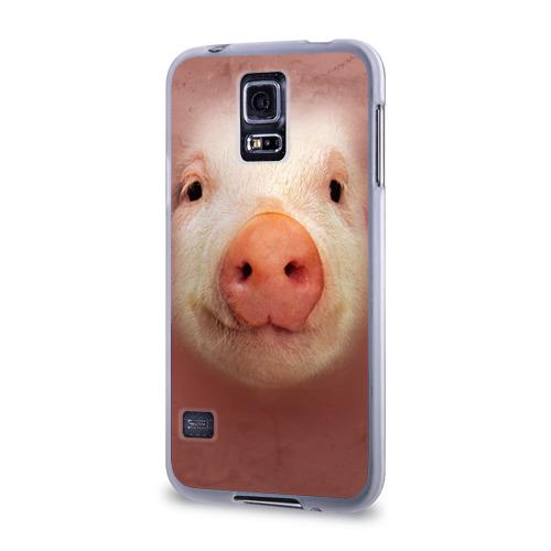 Чехол для Samsung Galaxy S5 силиконовый  Фото 03, Хрюшка