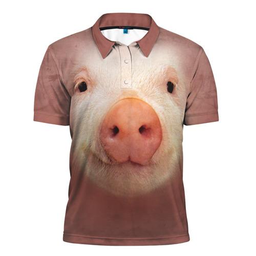 Мужская рубашка поло 3D Хрюшка