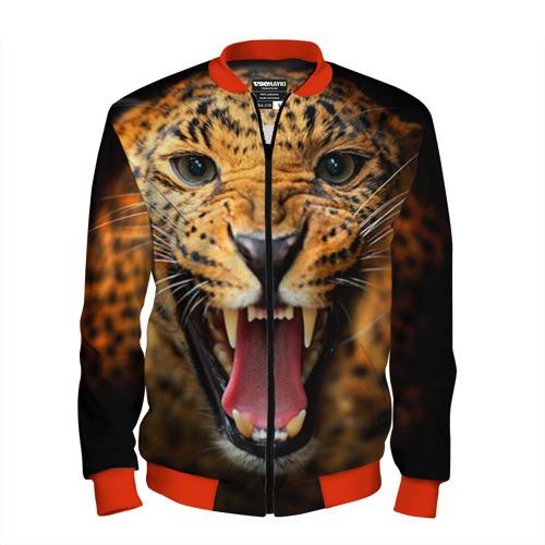 Мужской бомбер 3D Леопард