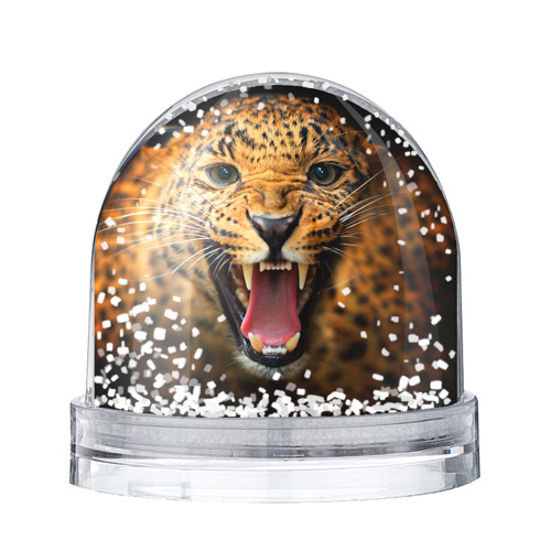 Водяной шар со снегом Леопард