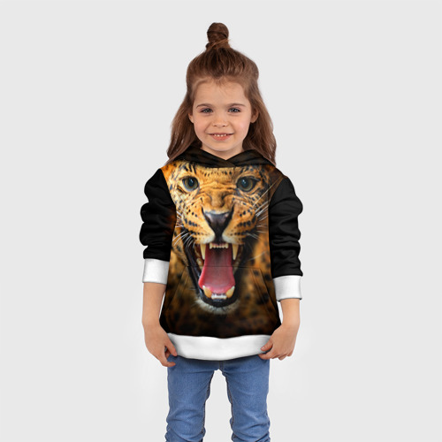Детская толстовка 3D Леопард