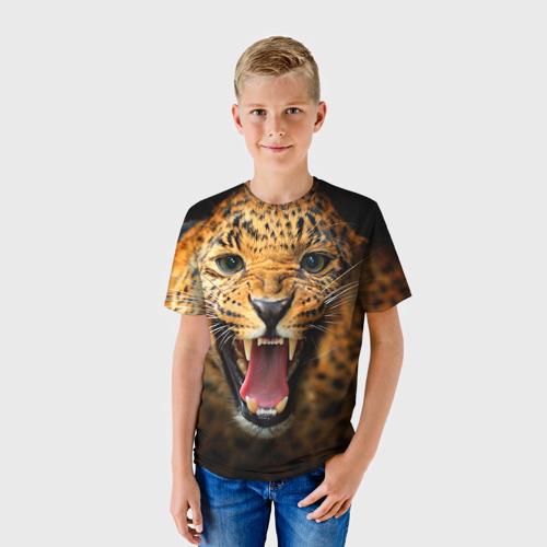 Детская футболка 3D Леопард