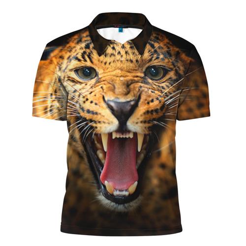 Мужская рубашка поло 3D Леопард