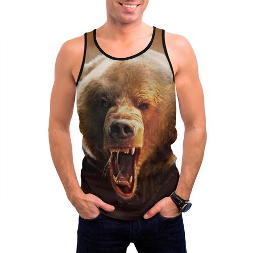 Мужская майка 3D Медведь Фото 01