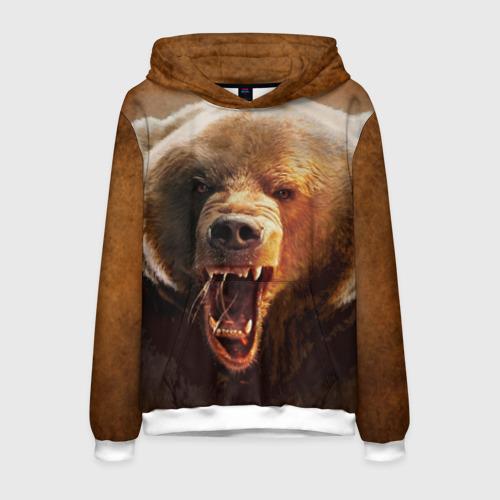 Мужская толстовка 3D Медведь Фото 01
