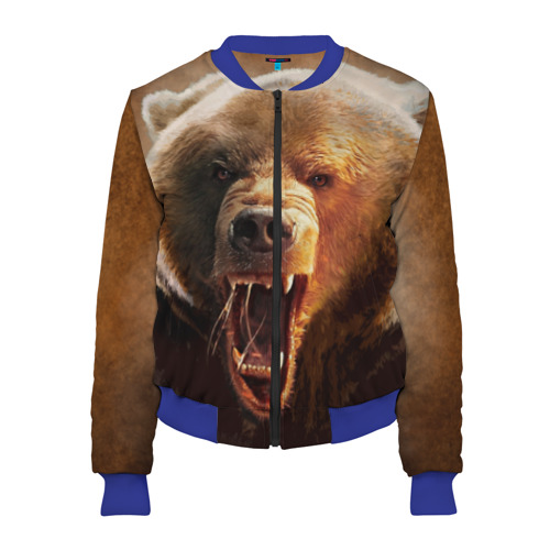 Женский бомбер 3D Медведь