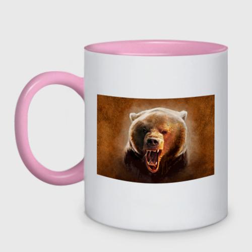 Кружка двухцветная Медведь Фото 01