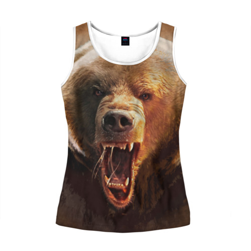 Женская майка 3D  Фото 01, Медведь