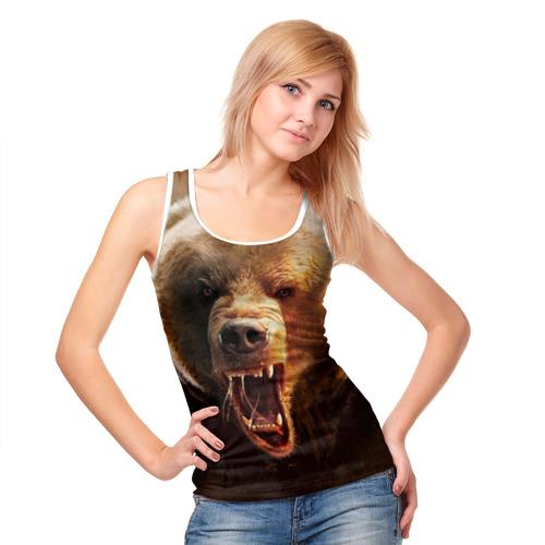 Женская майка 3D  Фото 05, Медведь