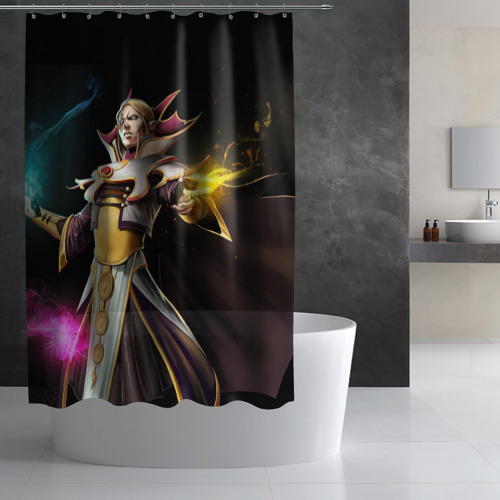 Штора 3D для ванной  Фото 02, Invoker