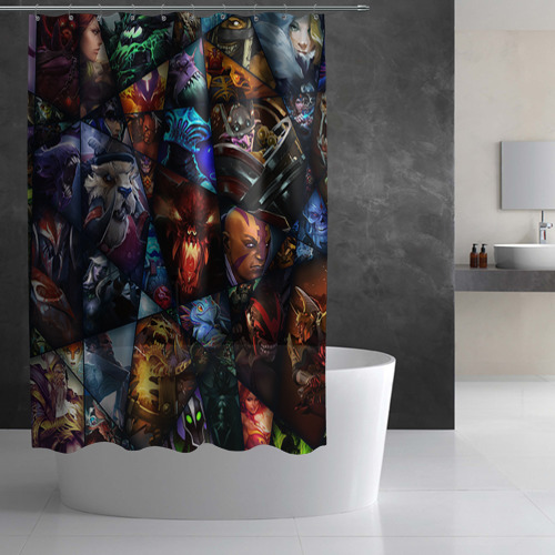 Штора 3D для ванной  Фото 02, All pic