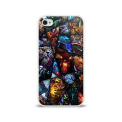 Чехол для Apple iPhone 4/4S силиконовый глянцевыйAll pic