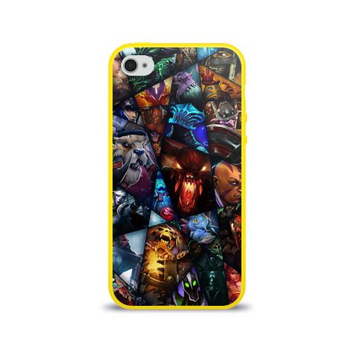 "Чехол силиконовый глянцевый для Apple iPhone 4S ""All pic"" - 1"