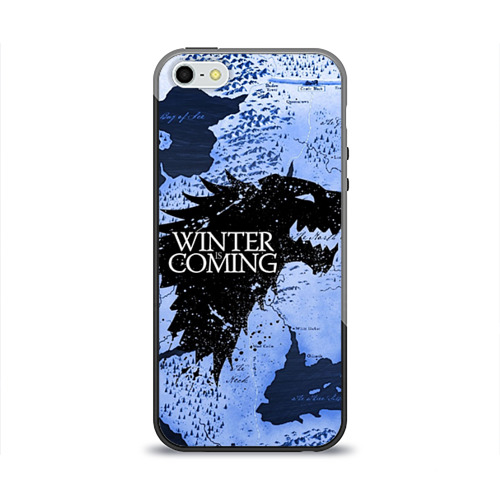 Чехол для Apple iPhone 5/5S силиконовый глянцевый Winter is coming от Всемайки