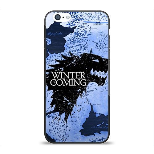 Чехол для Apple iPhone 6 силиконовый глянцевый Winter is coming от Всемайки