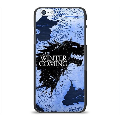 Чехол для Apple iPhone 6/6S Plus силиконовый глянцевый Winter is coming от Всемайки