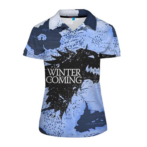 Женская рубашка поло 3D Winter is coming