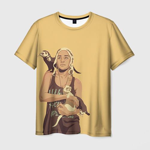 Мужская футболка 3D Дени и хорьки