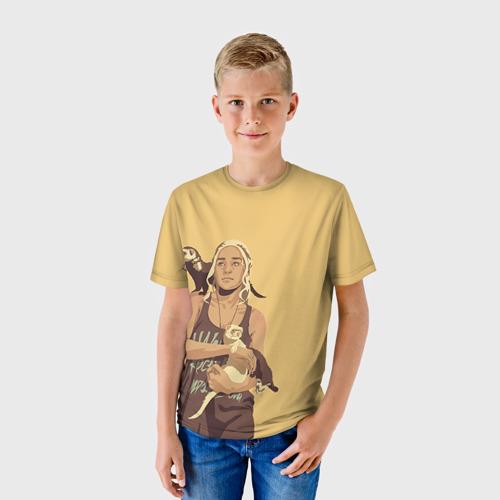 Детская футболка 3D Дени и хорьки