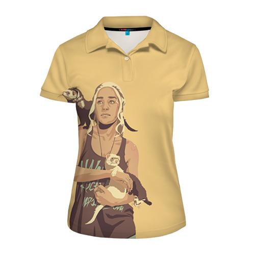 Женская рубашка поло 3D Дени и хорьки