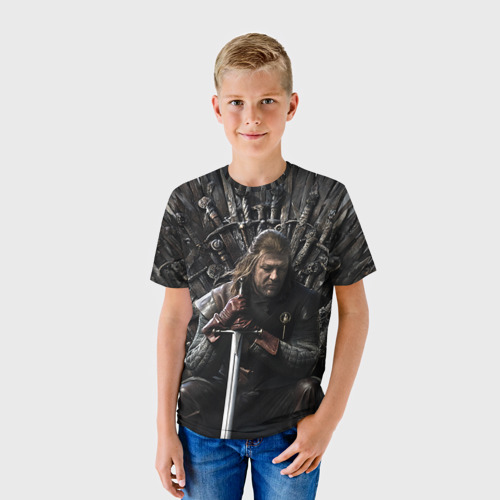 Детская футболка 3D Эддард Старк