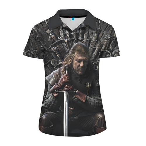 Женская рубашка поло 3D Эддард Старк