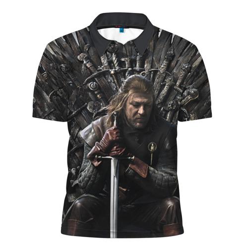 Мужская рубашка поло 3D Эддард Старк