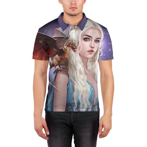Мужская рубашка поло 3D  Фото 03, Бурерожденная