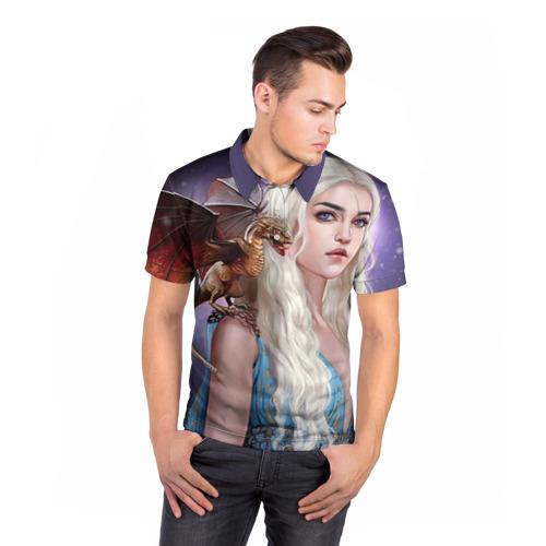 Мужская рубашка поло 3D  Фото 05, Бурерожденная