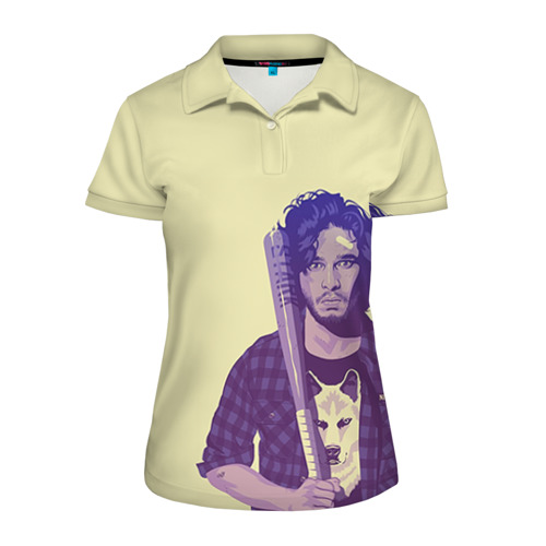 Женская рубашка поло 3D Джон Сноу