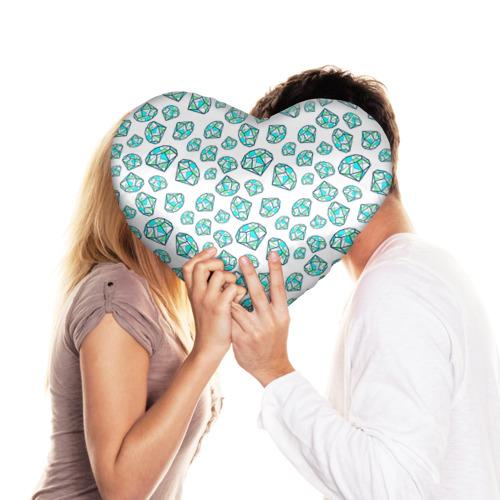 Подушка 3D сердце  Фото 03, Бриллианты