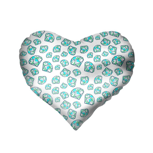 Подушка 3D сердце  Фото 02, Бриллианты