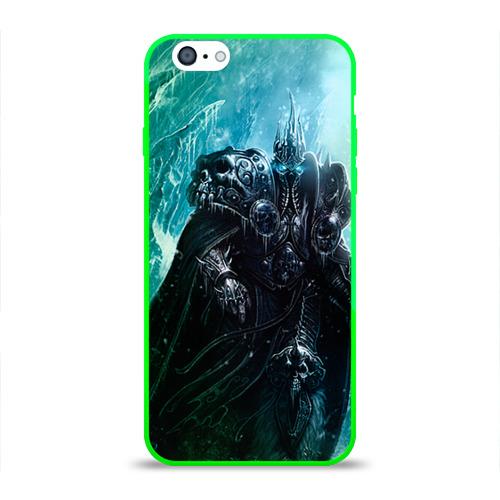 """Чехол силиконовый глянцевый для Apple iPhone 6 """"Король Лич"""" - 1"""