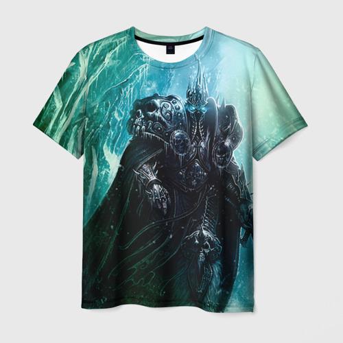 Мужская футболка 3D Король Лич
