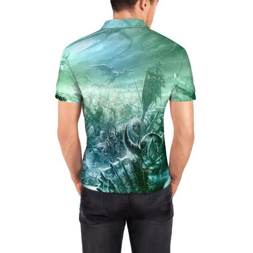 Мужская рубашка поло 3D Король Лич Фото 01