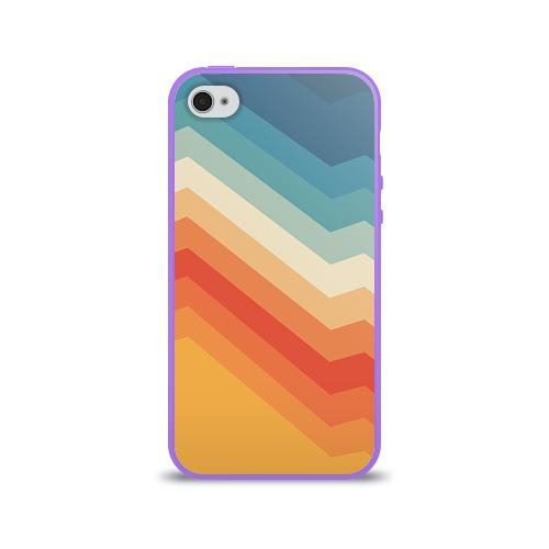 Чехол для Apple iPhone 4/4S силиконовый глянцевый Полосы