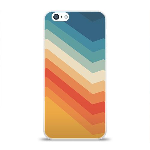 Чехол для Apple iPhone 6 силиконовый глянцевый Полосы
