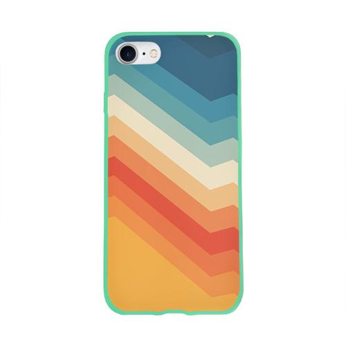 Чехол для Apple iPhone 8 силиконовый глянцевый Полосы Фото 01