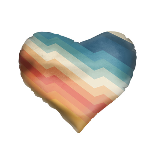 Подушка 3D сердце Полосы