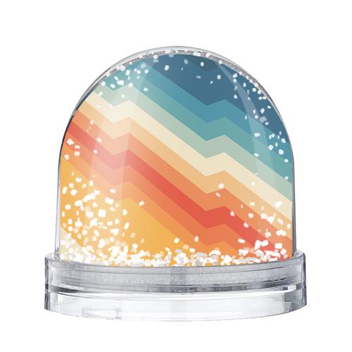 Водяной шар со снегом Полосы