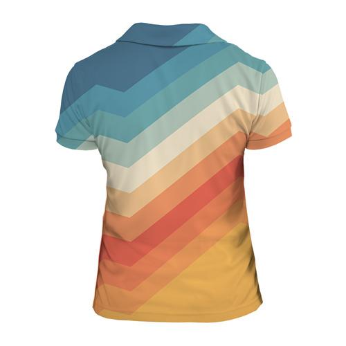 Женская рубашка поло 3D Полосы Фото 01