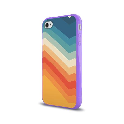 Чехол для Apple iPhone 4/4S силиконовый глянцевый Полосы Фото 01