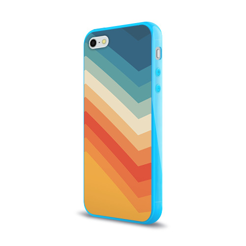Чехол для Apple iPhone 5/5S силиконовый глянцевый Полосы Фото 01