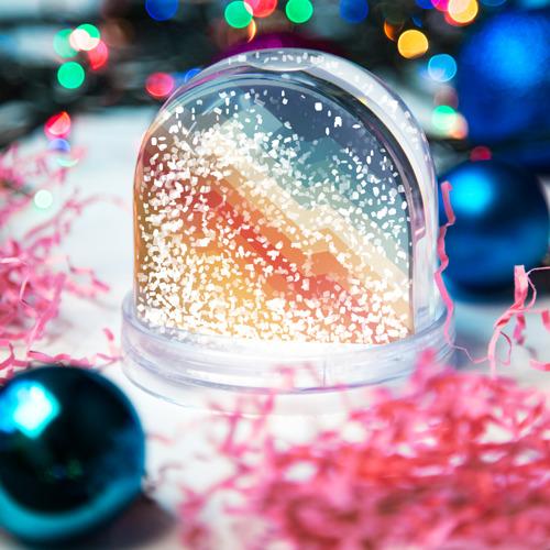 Снежный шар Полосы Фото 01
