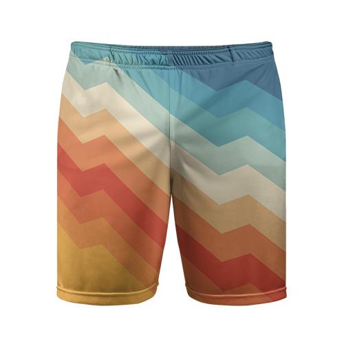 Мужские шорты 3D спортивные Полосы